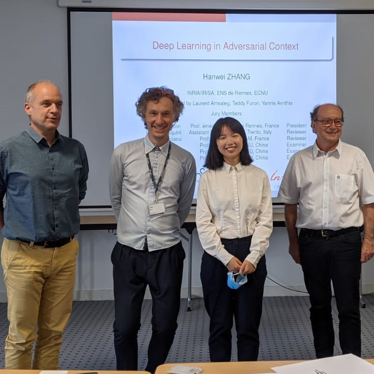 PhD defense of Hanwei ZHANG, first PROSFER thesis for ENS Rennes-East China Normal University!